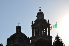 EL Zocalo, Cuidad de Μεξικό Στοκ Εικόνα
