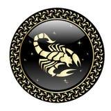El zodiaco del escorpión firma adentro el marco del círculo stock de ilustración