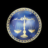 El zodiaco del libra firma adentro el marco del círculo libre illustration