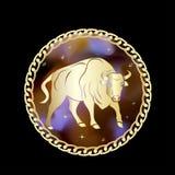 El zodiaco del tauro firma adentro el marco del círculo libre illustration