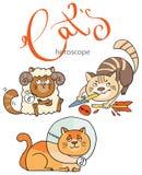 El zodiaco firma adentro gatos: el elemento del fuego Imagen de archivo