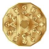 El zodiaco firma adentro el polígono Imagenes de archivo