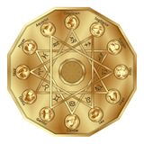 El zodiaco firma adentro el polígono Fotos de archivo libres de regalías