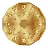 El zodiaco firma adentro el polígono Fotografía de archivo