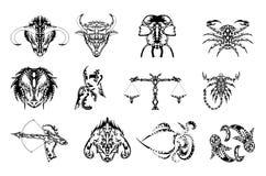 El zodiaco firma el tatuaje Fotos de archivo