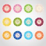 El zodiaco firma iconos Fotos de archivo libres de regalías