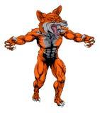 El zorro malo se divierte la mascota Imagenes de archivo