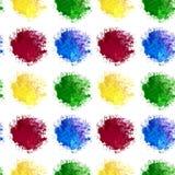 El zueco inconsútil de la mancha del arco iris de la acuarela salpica de color azul y verde amarillo rojo aislada en el fondo bla libre illustration