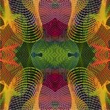 El zueco inconsútil del vector con hipnotiza la línea lisa Fondo psicodélico retro Pendiente abstracta del vector Fotografía de archivo libre de regalías
