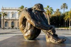El Zulo sculpture by artist Victor Ochoa in Cartagena, Región de Murcia. El Zulo bronze sculpture by artist Victor Ochoa in Cartagena, Spain. The sculpture royalty free stock photos