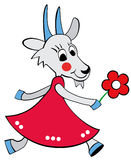 Ela-cabra dos desenhos animados Imagem de Stock