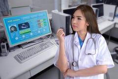 ELA como o registro de saúde eletrônico Imagem de Stock
