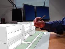 elaboración 3D Imágenes de archivo libres de regalías