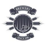 Elaboración de la cerveza del arte Emblema de la vendimia Fotografía de archivo libre de regalías