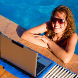 Elaboración de una piscina Fotos de archivo libres de regalías