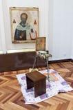 Elaboración del icono ortodoxo Foto de archivo