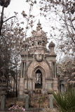 Elaborate architecture on a tomb in the National Cemetery (Cementerio General de Santiago), Santiago, Chile. Royalty Free Stock Photo