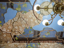 Elaborate artwork on ceiling Royalty Free Stock Photography