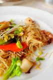 Elaborate Asian dry noodles Stock Images