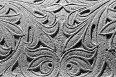 Elaborate black and white scroll background Royalty Free Stock Photography