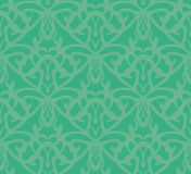 Elaborate Bluish-Green Seamless Pattern Background Stock Images