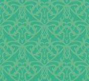 Elaborate Bluish-Green Seamless Pattern Background vector illustration
