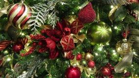Elaborate Christmas Tree in December stock video