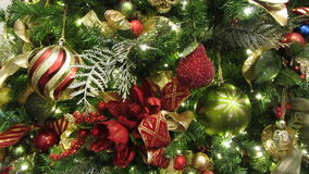 Elaborate Christmas Tree stock video footage