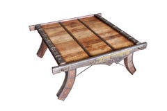 Elaborate Coffee Table of Wood and Brass Royalty Free Stock Photo