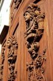 Elaborate door- San Pedro Tlaquepaque, Mexico. Elaborate door in the Tlaquepaque suburb of the city of Guadalajara- Mexico Stock Images