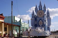 Elaborate float of Las Parrandas festival. Known as one of the oldest traditions in the Caribbean. The festival take place in Villa Clara and Sancti Spíritus Royalty Free Stock Image