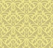 Elaborate golden vintage seamless pattern background Stock Photo