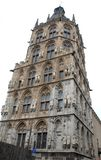 Elaborate historic tower with many statues in Cologne in Germany Royalty Free Stock Photography