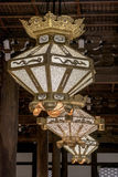 Elaborate lights in a Japanese temple Royalty Free Stock Image