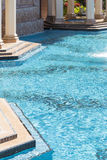 Elaborate Luxury Swimming Pool and Hot Tub Abstract Royalty Free Stock Photography