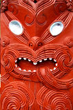 Elaborate Maori carving. In rotor north island New Zealand Stock Photos