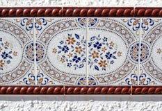 Elaborate mosiac wall tile in Spain Royalty Free Stock Photo