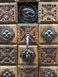 Elaborate old door in Venice Stock Image