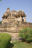 Elaborate sculptural decoration. On the exterior of the Jagadambi Temple Khajuraho, India stock photo