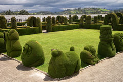 Elaborate topiary in the Tulcan Ecuador cemetery Royalty Free Stock Photography