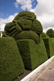 Elaborate topiary in Tulcan Ecuador. May 16, 2017 Tulcan, Ecuador: elaborate topiary in the high altitude border town famous cemetery Royalty Free Stock Photography