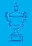 Elaborate trophy blueprint Royalty Free Stock Images