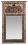 Elaborate vintage wooden mirror Stock Images