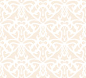 Elaborate white vintage seamless pattern on beige background Royalty Free Stock Photo