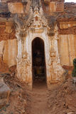 Elaborately carved doorway of  ancient Buddhist stupa Royalty Free Stock Image