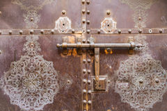 Elaborately decorated bronze doors Royalty Free Stock Image