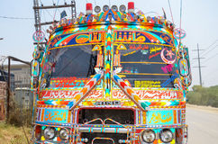Traditional Pakistani Bus stock photos