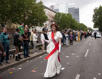 Elaborately dressed participant, during Christopher Street Day P Stock Photography