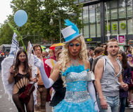 Elaborately dressed participants, during Christopher Street Day Stock Photos