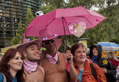 Elaborately dressed participants during Christopher Street Day P Stock Photos